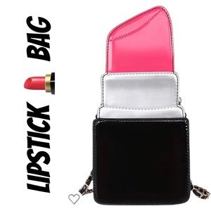 Handbags - PATENT LEATHER PINK LIPSTICK PURSE BAG CLUTCH